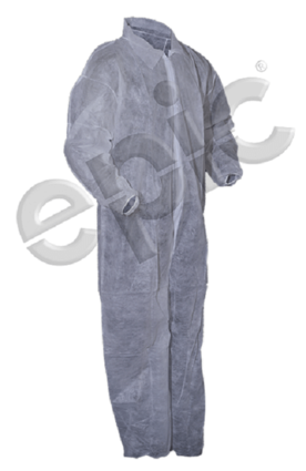 Tian's 210881 Polypropylene Low Lint Coveralls with Elastic Wrists