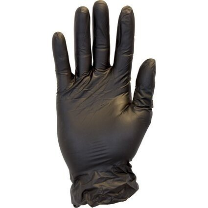 Safety Zone GVP9-1C-K Premium Black Vinyl Powder Free Gloves