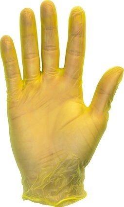 Safety Zone GVP9-1YE Yellow Powder Free Vinyl Gloves