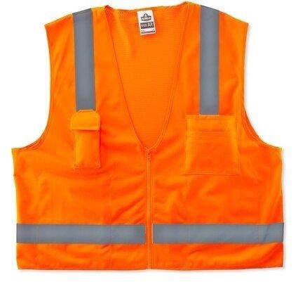 Ergodyne Glowear 8249Z Economy Surveyors Vest - ANSI 2