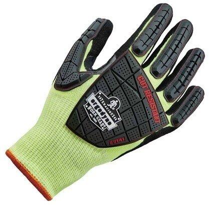 Ergodyne ProFlex 7141 Hi Vis Nitrile-Coated DIR Impact Cut Level 4 Gloves