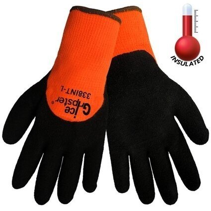 Global Glove Ice Gripster 338INT Hi Vis 3/4 Dipped Cut Resistant ANSI Level A2 Gloves