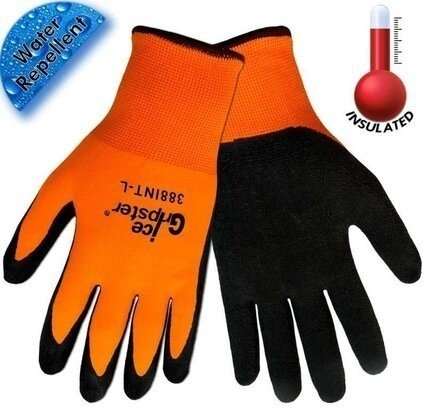 Global Glove Ice Gripster 388INT Insulated Hi Vis Gloves