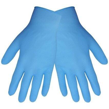 Global Glove 705PF 5 Mil Blue Nitrile Powder Free Gloves