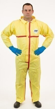 Enviroguard 7012YT Tyvek Like Chemical Splash Resistant Coveralls - Elastic Wrists