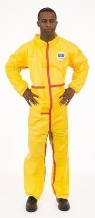 Enviroguard 7013YT Tyvek Like Chemical Resistant Coveralls - Elastic Wrists & Ankles
