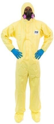 Enviroguard 7019YS Tyvek Like Chemical Resistant Coveralls - Hood & Boot, Elastic Wrists