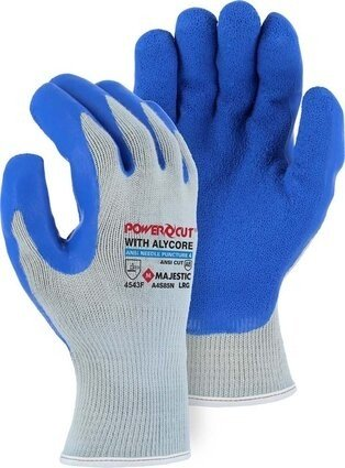Majestic A4S85N Powercut ® with Alycore® Ansi Cut 8 Cut & Puncture Resistant Glove with Latex Palm Coating