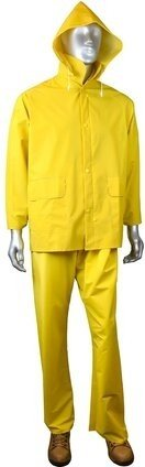 Radians Radwear ERW35 3 Piece Waterproof Rainsuit - Snap Closure