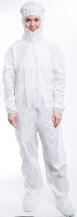 ValuMax 4703 Coolback LiquidGuard Coveralls - Crown Hood, SafeGrip Boot Covers & Elastic Cuffs - Compare To Tyvek!