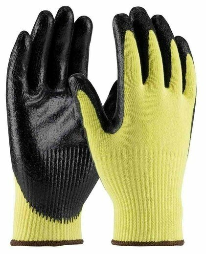 PIP G-Tek 09-K1660 Seamless MicroFinish Knit Kevlar/Nitrile Coated Cut Level 3 Gloves