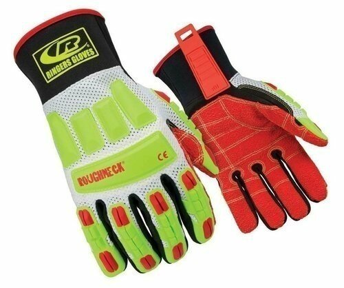 Ringers R-298 Roughneck Vented Mesh Kevloc Palm Cut Resistant Level 3 Gloves