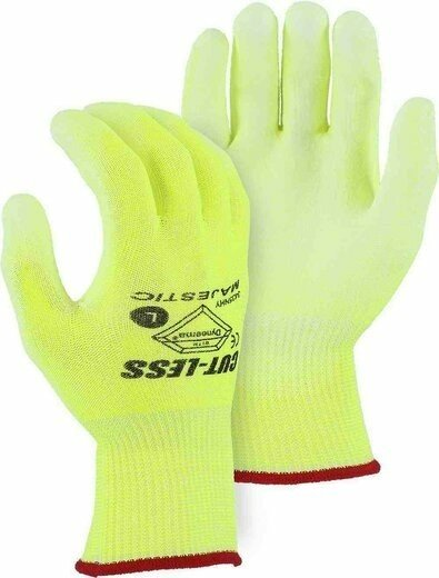 Majestic 37-3435 Dyneema Hi Vis Gloves Cut Level 3