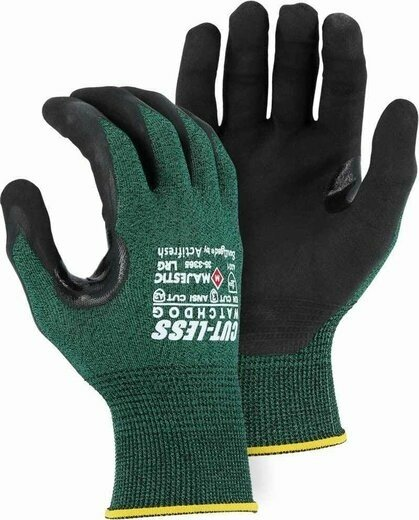 Majestic 35-3365 Cut-Less Watchdog® Glove with Exceptional Micro Foam Black Nitrile Palm - Cut Level 3