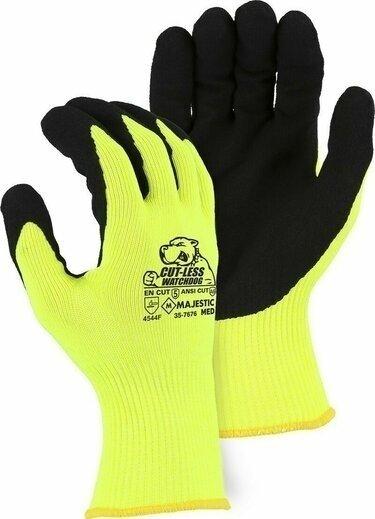 Majestic 35-7676 Cut-Less Watchdog Extreme Cut Resistant Level A6 Hi Vis Gloves