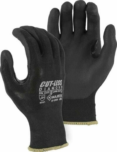 Majestic 37-3565 Cut-Less Diamond® Gloves with Foam Nitrile Palm - Cut Level 5