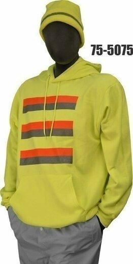 Majestic 75-5075/5076 Hi Vis Cotton/Poly Hooded Sweatshirt- NON ANSI