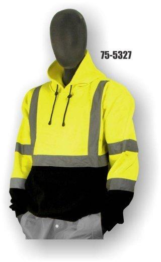 Majestic 75-5327/5328 Hi-Vis Sweatshirt with Pullover Hood - ANSI 3