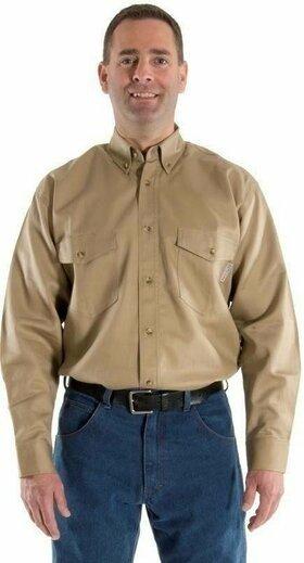 Majestic 95761 BlazeTEX FR Vented Action Back Button Down Work Shirt