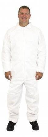 Safety Zone 50 Gram SMS Coveralls with Elastic Wrists and Ankles - DCWH-SZ-SMSEWA