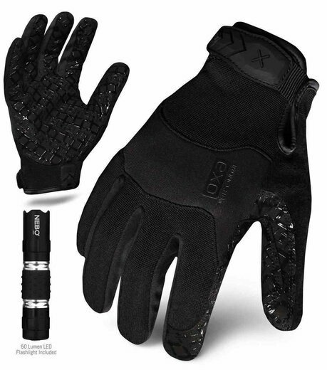 Ironclad EXOT Tactical Grip Gloves w/ Free Flashlight
