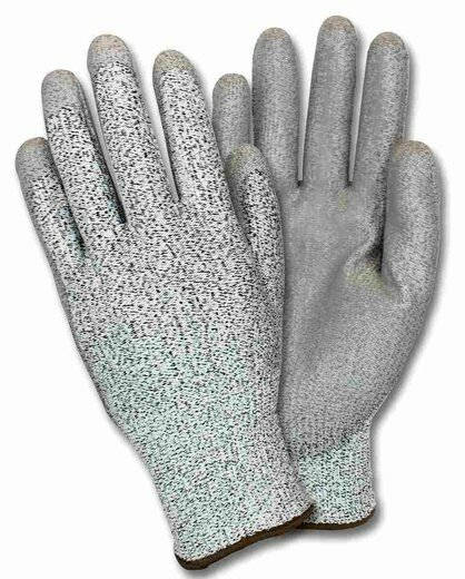 Safety Zone GS13-CYPU Polyurethane Coated HPPE Knit Cut Resistant Gloves