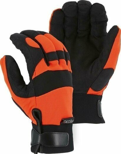 Majestic A4B37O Alycore 4/8BP Orange Cut Resistant Level 5+ Gloves
