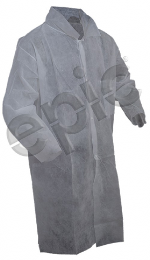 Tian's 844880 Polypropylene Lab Coats With Open Wrists - One Pocket