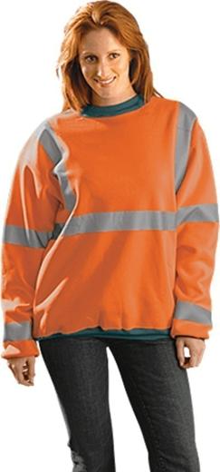 Occunomix Premium Hi Vis Wicking Crew Neck Sweatshirt - ANSI Class 3