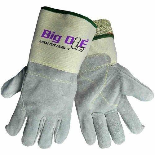 Global Glove 2150KFGC Big Ole Leather Palm Cut Resistant Gloves