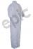 Tian's 217880 Polypropylene White Coveralls